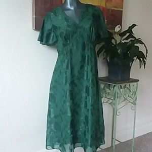 MODCLOTH ANNA SUI elegant emerald dress